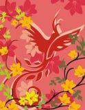 blom- serie för bakgrundsfågel Royaltyfri Bild