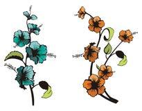 blom- set för design Fotografering för Bildbyråer