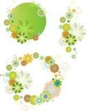 blom- set för designelement Arkivbild