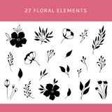 blom- set för element stock illustrationer