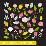 blom- set för element Royaltyfria Foton