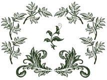 blom- setvektor för element vektor illustrationer