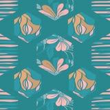 Blom- sexhörning för vektor royaltyfri illustrationer