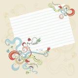 blom- sida för garnering vektor illustrationer