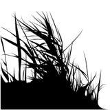 blom- silhouette 06 Arkivbild