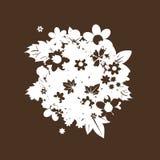 blom- silhouette för bukett Arkivbild