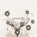 blom- silhouette för designelement Arkivfoton