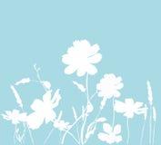 blom- silhouettes vektor illustrationer