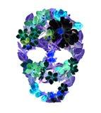 Blom- skalle - tappningblommor Vattenfärg för allhelgonaafton Fotografering för Bildbyråer