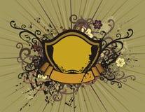 blom- sköld för bakgrund Arkivbild