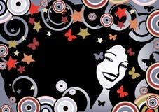 blom- skraj för bakgrund royaltyfri illustrationer