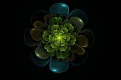 Blom- slumpmässig Fractal Arkivfoton