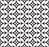 Blom- sömlös bakgrund. Abstrakt vit och svart blom- geometrisk sömlös textur Royaltyfri Foto