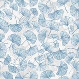 Blom- sömlös bakgrund med ginkgosidor Royaltyfria Foton
