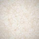 Blom- sömlös beige bakgrund. Royaltyfria Bilder