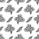 Blom- sömlös modell för tappning för din design Royaltyfri Bild