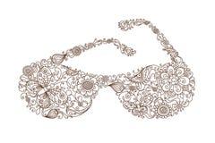 Blom- solglasögon Royaltyfri Fotografi