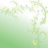 blom- ställetext för abstrakt bakgrund Royaltyfri Bild