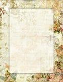 Blom- stationärt för tryckbar stil för tappning sjaskig chic med fjärilar royaltyfri illustrationer