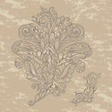 Blom- stil för designelementrenässans Royaltyfria Bilder