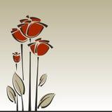 Blom- stilfull bakgrund för vektorro Royaltyfria Bilder