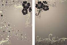 blom- stilfull vektortappning för bakgrund Arkivbild