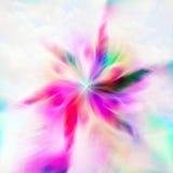 Blom- stjärna stock illustrationer