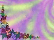 Blom- strålpunkt för gräns Arkivbild
