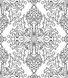 Blom- svartvit prydnad Arkivfoto