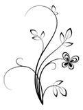 blom- swirl Arkivbild