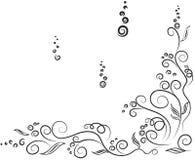 blom- swirl Arkivfoton