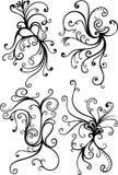 blom- swirl för element stock illustrationer