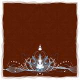 blom- swirls för blått krön Royaltyfri Bild