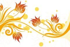 blom- swirlvektor Royaltyfri Bild