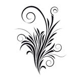 blom- swirlvektor Arkivbild
