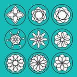 Blom- symboler Fotografering för Bildbyråer