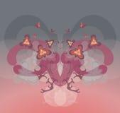 blom- symmetri vektor illustrationer
