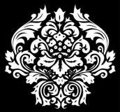 blom- symmetriskt för svart garnering royaltyfri illustrationer