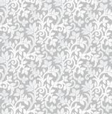 Blom- tapet för sömlös lyxig silver Royaltyfria Bilder