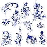 blom- tappning för element royaltyfri illustrationer