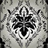 Blom- tappning för sömlös tapetbakgrund stock illustrationer