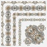 Blom- tappningramdesign Arkivbild
