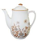 blom- teapot för porslin royaltyfri bild
