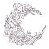Blom- teckning för Iznik stil royaltyfri illustrationer