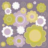 blom- tegelplatta Arkivbild