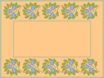 blom- text för ramfotoavstånd Royaltyfri Bild
