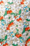 Blom- textilmodell Arkivfoto