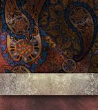 Blom- texturerad bakgrund med guld- bespruta Arkivbilder