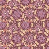 Blom- textute för tappning i orientalisk stil stock illustrationer