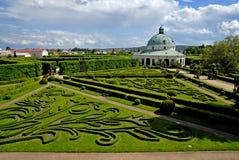 Blom- trädgård, Kromeriz Royaltyfri Foto